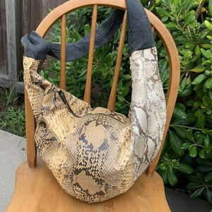 Vintage Python Hobo Bag Christian Dior Zipper